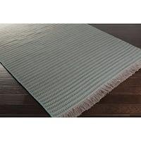 Hand-woven Shane Stripe Wool Area Rug - 8' x 10'