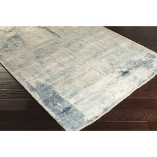 Handmade Smith Abstract Rayon from Bamboo Rug (4' x 6')