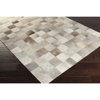 Handmade Kevin Animal Leather Area Rug (2' x 3')