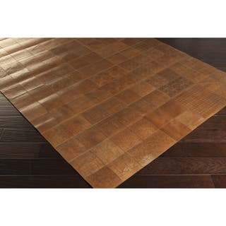 Handmade Larry Animal Leather Area Rug (8' x 10')|https://ak1.ostkcdn.com/images/products/9775797/P16945958.jpg?impolicy=medium