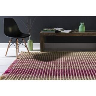 Hand-Woven Karly Stripe Wool Rug (8' x 10')