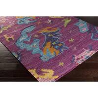 Handmade Keith Abstract Viscose Area Rug - 4' x 6'