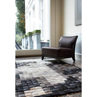 Handmade Lynda Animal Leather Strap Area Rug - 8' x 10'