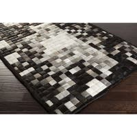 Handmade Lynda Animal Leather Strap Area Rug (4' x 6')