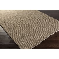 Hand-Woven James Solid Viscose Area Rug - 8' x 10'
