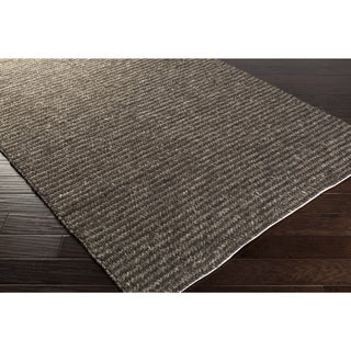 Hand-Woven James Solid Viscose Rug (4' x 6')
