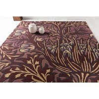 Hand-Tufted Chaucer Contemporary Wool Area Rug - 5' x 8'