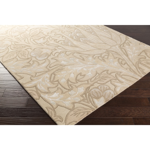 Hand-Tufted Benny Contemporary Wool Area Rug - 5' x 8'