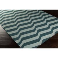 Hand-Woven Kirsten Stripe Wool Area Rug - 5' x 8'