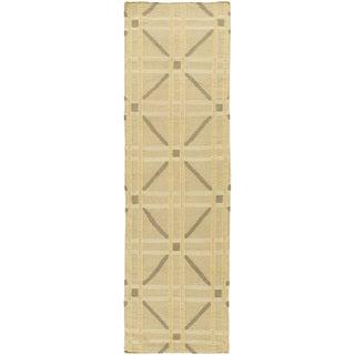 Hand-Woven Killian Geometric Wool Rug (2'6 x 8')