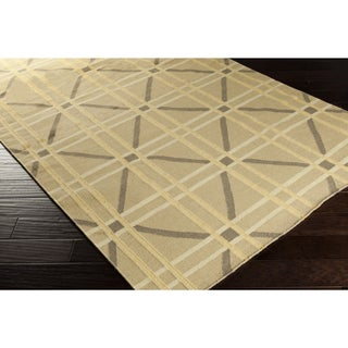 Hand-Woven Killian Geometric Wool Area Rug