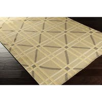 Hand-Woven Killian Geometric Wool Area Rug - 8' x 11'