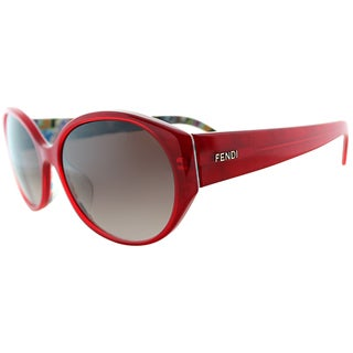Fendi Women's FS 5162K 615 Red Oval Sunglasses