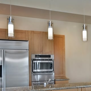 Frost Chrome 1-light Single Pendant