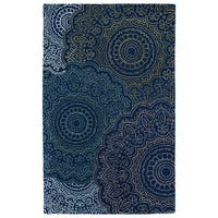 Hand-Tufted Ombre Navy Pinwheel Rug (9'6 x 13')