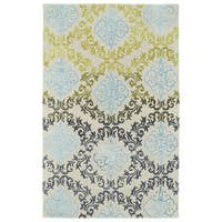 Hand-Tufted Ombre Multi Damask Rug (5' x 7'9) - 5' x 7'9