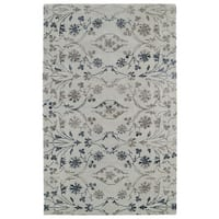 Hand-Tufted Ombre Linen Colored Floral Rug (5'0 x 7'9)