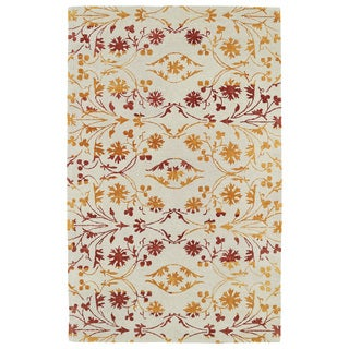 Hand-Tufted Ombre Fire Floral Rug (5' x 7'9)