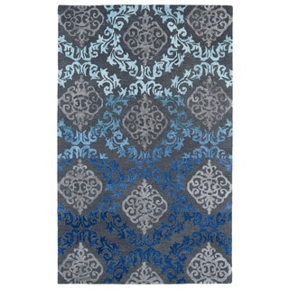 Hand-Tufted Ombre Ice Damask Rug (3'6 x 5'6)