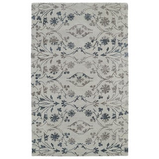 Graffix Leaves Hand Tufted Brown Rug 9 6 X 13 Free