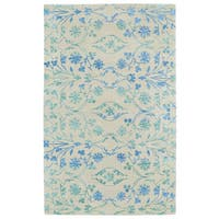 Hand-Tufted Ombre Ice Floral Rug (9'6 x 13'0)