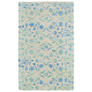 Hand-Tufted Ombre Ice Floral Rug (8' x 11')