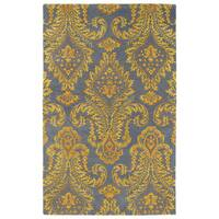 Hand-Tufted Ombre Gold Damask Rug (9'6 x 13')