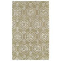 Hand-Tufted Ombre Light Brown Medallions Rug (5' x 7'9)