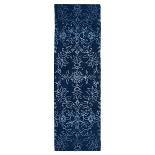 Hand-Tufted Ombre Navy Rug (2'6 x 8')