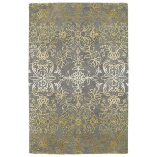 Hand-Tufted Ombre Brown Rug (3'6 x 5'6)