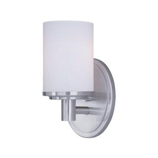 Maxim Cylinder 1-light Pewter Metal Bath Vanity