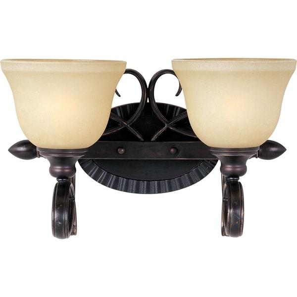 Maxim Infinity 2-light Bronze Steel Bath Vanity