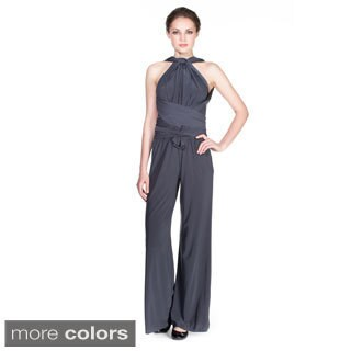 Women's Ladies Multiway Jumpsuit Rompers Playsuits (Option: Grey)