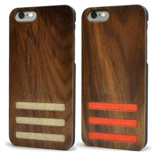 Walnut Wood Case with Linen for iPhone 6/6s