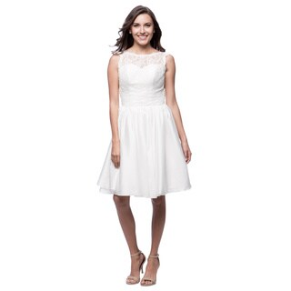 Robin DS Women's Fit-and-flare Knee-length Lace Dress