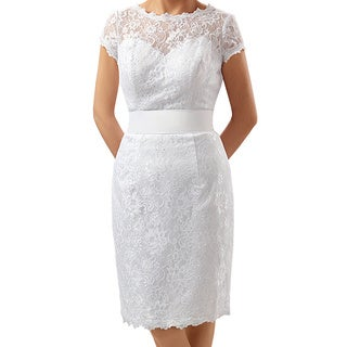 Attitude Couture Women's Short Lace Social Occasion Dress