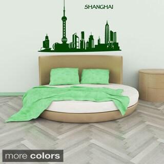 Shanghai Skyline Wall Decal