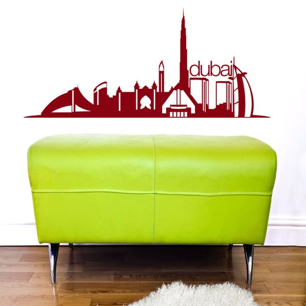 shop dubai skyline wall decal - free shipping today - overstock