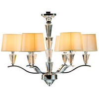 Kokols Crystal 6-light Lemon Gold Drum Chandelier