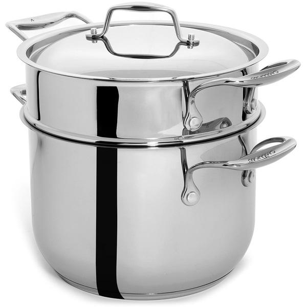Shop Culina Stainless Steel 6-quart Pasta Pot/ Vegetable Steamer