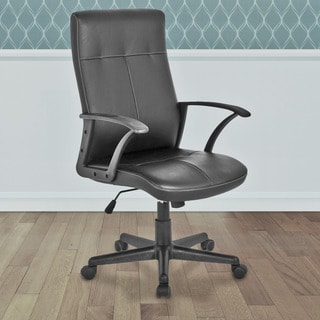 CorLiving WHL-102-C Black Leatherette Office Desk Chair