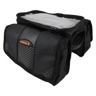 Ibera Top Tube Angled Mini Panniers with Clear Screen Pocket