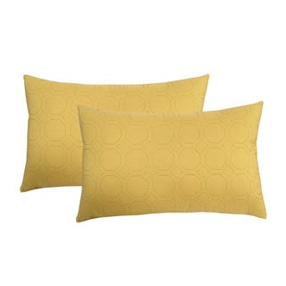 Microfiber Sonic Quilted Honeycomb Throw Pillow (Set of 2)