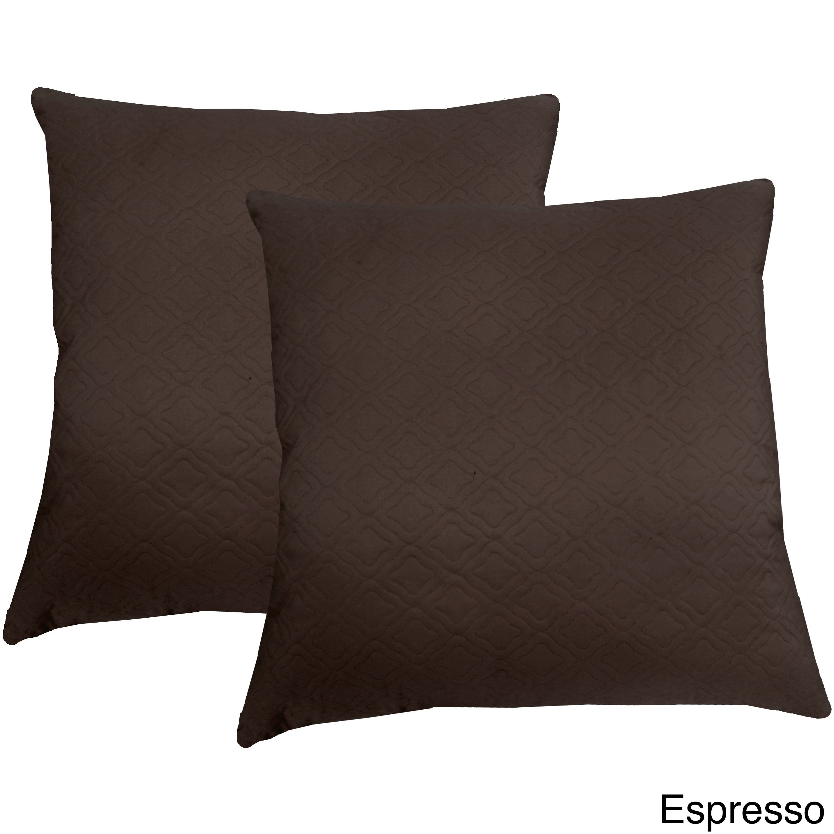 Microfiber Sonic Quilted Florentine 17-inch Throw Pillows (Set of ...