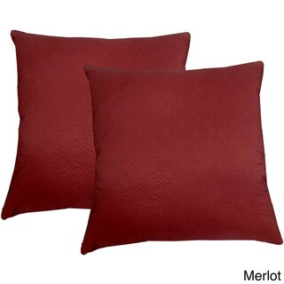 Microfiber Sonic Quilted Florentine 20-inch Throw Pillows (Set of 2)