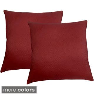 Microfiber Sonic Quilted Floine 20 Inch Throw Pillows Set Of 2
