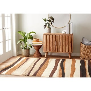 """Home Dynamix Tribeca Collection Contemporary Brown Area Rug (5'2""""X7'2"""")"""