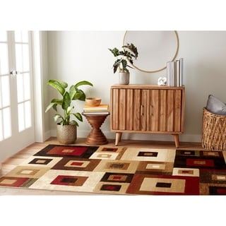 "Home Dynamix Tribeca Collection Contemporary Multicolored Area Rug (5'2""X7'2"")"