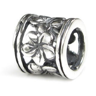 Queenberry Sterling Silver Frangipanni Hawaiian Plumeria Flower Europen Bead Charm
