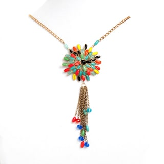 Sitara Collections Blooming Flower Rainbow Beaded Necklace (India)